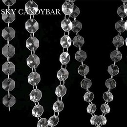 Wholesale Christmas Tree Bead Garland - 16 Feet Crystal Acrylic Gems Bead Strands, Tree Garlands ,Christmas Decoration,bead curtain
