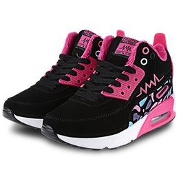 Wholesale Women Stylish Sport Shoes - Stylish Color Block Warm Inside Ladies Height Increasing Sports Shoes Free Shipping New Fashion +B