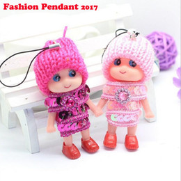 Wholesale Mini Toys Girls - Mini Ddung Doll Best Toy Gift for Girl Confused Doll Key Chain Phone Pendant Ornament mini doll keychain
