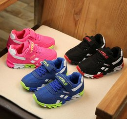 Wholesale Bra Hard - 2017 spring Kids Shoes Bra Sneakers colorful fashion casual children shoes for boys and girls rubber running sports shoes