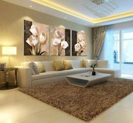 Wholesale Orchid Paintings Canvas - 2017 Wall Decor Painting 3pcs Top Sales Pictures On Wall Of Living Room Wall Canvas Oil Painting Of A Black Color Orchid Print Painting