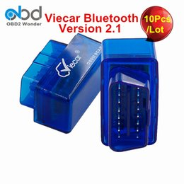 Wholesale Car Diagnostics Auto Scanner - Wholesale- 10Pcs Lot 2017 Wholesale Viecar ELM327 Bluetooth MINI ELM 327 OBD2 Scanner For Multi-Brand Cars Auto Diagnostics Tool Free Ship