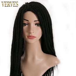 Wholesale Extension Curly Blonde - VERVE 6 pack 30 Strands pack Crotchet Braids Ombre Braiding Hair Extensions Senegalese Twist hair 75g pack black,brown,blonde,
