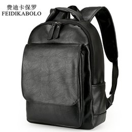 Wholesale Medium Backpacks For Men - Leather Men Backpack For Man 2017 Backpacks Black Backpacks Male Fashion Rucksack Schoolbags Black Backpack Business Laptop Bags