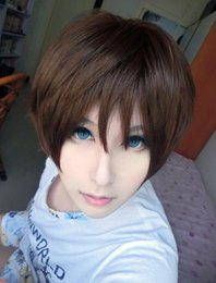 Wholesale Eren Cosplay Wig - MCOSER Free Shipping Attack on Titan Eren Jaeger 12 Inches Short Xlassical Brown Cosplay Ainme Wig
