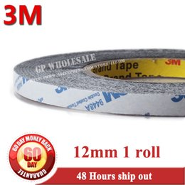 Wholesale 3m 9448 - Wholesale- 2016 12mm * 50 meters 3M 9448 Black Double Sided Adhesive Tape Sticky for Cellphone LCD Display Touch Screen Repair   Logo Adhe