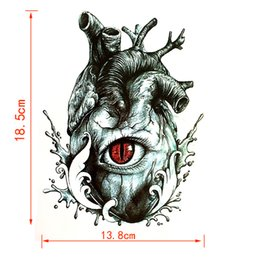 Wholesale Tattoo Devil - atouage henna 5pcs The Eye of the Devil Waterproof Temporary Tattoo Sticker Harajuku Men heart Fake Tattoo girl Tatouage Henna Tatoo slee...