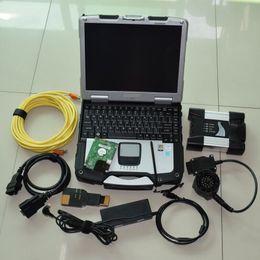 Analyseur de fenêtres en Ligne-programme de diagnostic le plus récent pour bmw icom avec disque dur 500 Go en mode expert ordinateur portable cf30 tactile ordinateur 4g windows 7