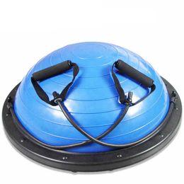 Wholesale Fitness Balance - Wholesale- Yoga Balance ball Half With Pump Balloons Pilates fitness Gym half Bosu Ball hemisphere PVC+ABS Fitball Trainer Stabilizer