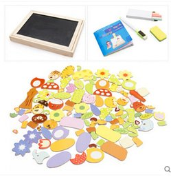 Wholesale Magnetic Writing Board Toy - Wholesale- Learning & Education Toys Animal Magnetic Puzzle Wooden Children Multifunction Writing Drawing Board Blackboard Fantastic Easel