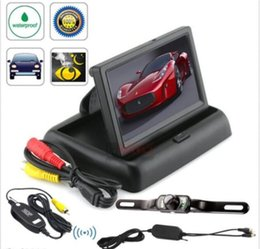 "Wholesale Car Backup Camera Monitor System - Car Rear View System Wireless Backup Camera Night Vision + 4.3"" TFT LCD Monitor"