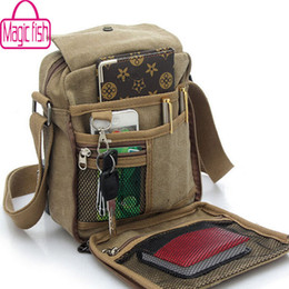 Wholesale High Quality Canvas Bag Men - Wholesale-Magic Fish! men messenger bags shoulder bag canvas bag men's travel bags high quality handbag brand purse for men LM0001mf