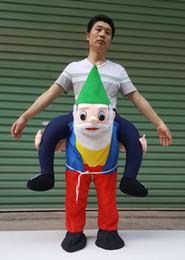 Wholesale Mascot Funny - Animal funny dress Halloween Man Ride on Santa Claus Make Adult Inflatable bear mascot Costumes Christmas Day Christmas festival