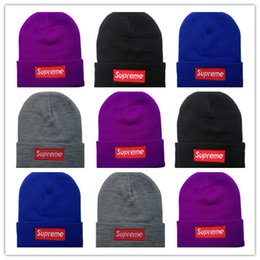 Hot Wholesale-New Autumn Winter Unisex wool hats fashion casual brand sup  Beanies For Men and women Striped design Free Shipping ba023c06334e