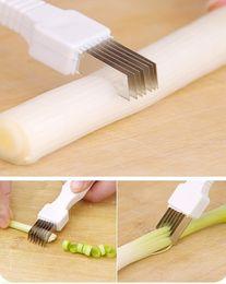 Wholesale Vegetables Knife - Onion Vegetable Cutter slicer multi chopper Sharp Scallion Kitchen knife Shred Tools Slice Cutlery