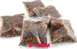 Wholesale Bullets Soft - 10000pcs bag Water Beads MarvelBeads for Orbeez Spa Refill Sensory Toy Soft Crystal Bullet Paintball Bullet Crystalbullet Watergunb WD396