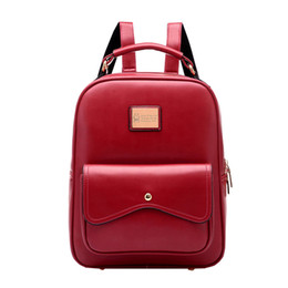 Wholesale- 2016 New lady fashion antique college style women backpack travel  bag Korean version of high-quality school bags f814a419e552f