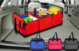 Wholesale Cloth Organizer Box - Car trunk storage bag Oxford Cloth folding truck storage box Car Trunk Tidy Bag Organizer Storage Box with cooler bag
