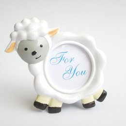 Wholesale photo frame table - Baby Lamb Cute Sheep Shape Photo Frame Place Card Holder Baby Shower Birthday Party Table Decoration Free Shipping ZA3702