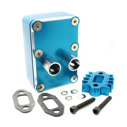 Wholesale Rc Losi Cars - RC Car Engine exhaust Radiating kit Blue Fit HPI baja 5b 5t 5sc Losi 5IVE-T Upgrade B