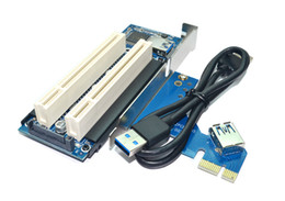 Wholesale Pci Expansion Adapter - Desktop Pci-e to Double Pci Slot Expansion Card USB 3.0 to PCI Adapter Card PCI Add on Cards F21697