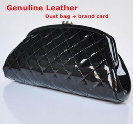 Wholesale Hand Bags Shoulder Lace - Wholesale-Genuine Real Leather Classic Fashion Women Evening Bags Purse Luxury C Mini Hand Bag Clutch Gorgeous Brand Wedding Party Bag