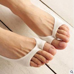 Wholesale Cheap Slipper For Women Wholesale - Bamboo Women Socks 2017 Summer Korea Socks For Girls Perfect For Peep-Toe High-heel Shoes Cheap Socks Kawaii Sock No SHow Sock 10 Colors