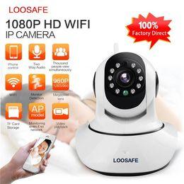 Wholesale Outdoor Wireless Ptz Surveillance Camera - LOOSAFE HD 1080P IP Camera WIFI Camera Surveillance Camera 2 MP Baby Monitor Wireless P2P IP Camara PTZ Wifi Security Cam