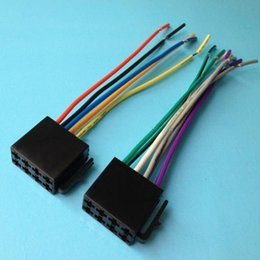 Wholesale Plug Radio - Universal ISO Wire Harness Female Adapter Connector Cable Radio Wiring Connector Adapter Plug Kit for Auto Car Stereo System