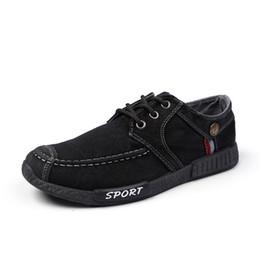 Wholesale Men Plimsolls - Denim Jean Shoes For Men 2017 Summer Casual Plimsoll Canvas Shoes Men Lace Up Jogging Walking Shoes DG1813