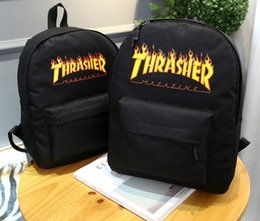 Wholesale Tiding Leather Bags - Harajuku TH- RASHER bag retro wild tide college wind students shoulder bag men and women couples travel backpack