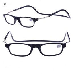 Wholesale Cheap Shopping - New Clic Reading Glasses Magnetic Stone On Nose Fashion Reading Eyewear Hang Neck 4 Colors Cheap Wholesale Glasses Shop