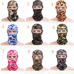 Wholesale Tactical Motorcycle - New Camouflage Tactical Headgear CS Mask Outdoor Sports Cap Bicycle Cycling Fishing Motorcycle Masks Ski Balaclava Halloween Full Face Mask