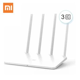 Wholesale Mi Fi Router - Xiaomi Mi WiFi Router 3C English Version Wifi Repeater 300Mbps 2.4GHz Wireless Routers Repetidor Wi-Fi Roteador APP Control