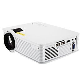 Wholesale New Home Theater - Wholesale-New GP-9 Mini Home Theater 2000 Lumens 1920 x 1080 Pixels Multimedia Wireless HD LCD Projector Home Cinema HDMI USB SD AV 3.5mm