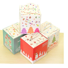 Wholesale Packaging Supplies Cookie Box - Free shipping Christmas Eve apple box cookie box dessert gingerbread boxes candy gift package supplies WA2059