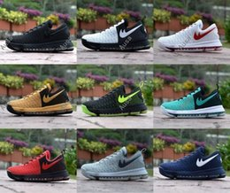 Wholesale Kd Boots - 2017 Kevin Durant KD 9 Mens Basketball Shoes,KPU 9s Cool Grey Black Red Gold Home Blue Atheletic Men Sports Sneakers Trainers 41-47