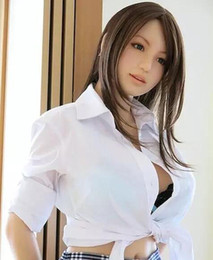 Wholesale Inflatable Adult Female Dolls - Sexy toys japanese real silicone sex doll realistic vagina lifelike love doll adult male masturbation oral sex dolls for men