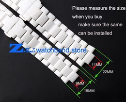 Wholesale Butterfly Mouth - Wholesale- Convex mouth ceramic watchband white 19mm 22mm watch strap Butterfly Buckle bracelet band