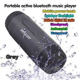 Wholesale Tf Output Usb - Zealot S1 Waterproof Wireless Bluetooth Speaker PowerBank Output 3 Mode Flashlight Handsfree for Smartphone TF Card Caixa de Som