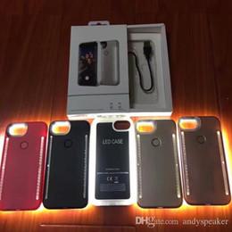 Argentina Estuche Light Up Duo para iPhone X SE 6 7 8 Plus Selfie Cubierta luminosa con paquete minorista 30pcs / up Suministro