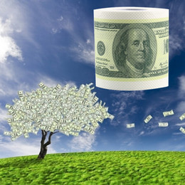 Wholesale Dollar Roll Paper - Wholesale- One Hundred Dollar Bill Toilet Paper Novelty Fun $100 TP Money Roll Gag Gift