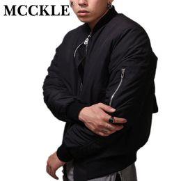 Wholesale Mens Casual Jackets For Spring - Wholesale- MCCKLE Bomber Jacket Hi-Street Flight Slim Fit Hip Hop Varsity Letterman bombers jacket men For mens spring jacket plus Size