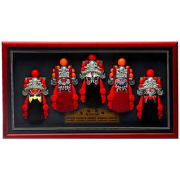 Wholesale Hanging Wall Carving - Photo frame, relief, Beijing opera, facial make-up, wall hanging, five road, mammon, living room, hotel decorations, business gifts, post an