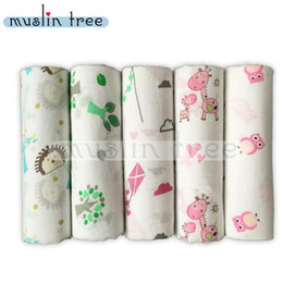 Wholesale Bamboo Blankets Wholesale - Bamboo muslin swaddle Blanket Double layer 120*120cm Brand Soft Wraps Nursery Bedding Newborn Cotton Swaddles Bath Towels Parisarc 2016