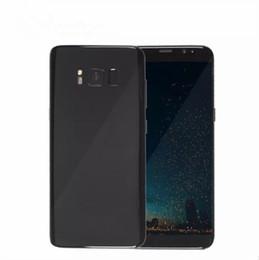 Wholesale Dual Sim Andriod Phones - Goophone S8 andriod cellphone 5.5inch MTK6580 quad core 1GB 16GB show 64G octa core show 4G LTE Andriod 6.0 phone