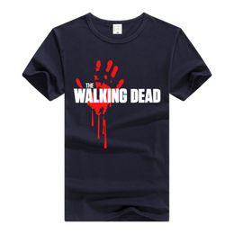 Wholesale Shorts Casual Walk Men S - WALKING DEAD Tshirt Bloody Hand Tops Men personality T-shirt