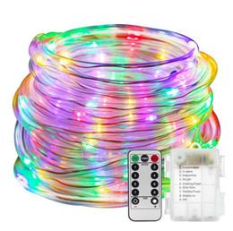 kontrollseil Rabatt LED Dimmable Rope Lights Batteriebetriebene Outdoor Wasserdicht 8 Modi Fernbedienung Lichterkette für Garten Terrasse Party Weihnachtsdekoration
