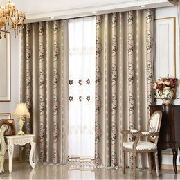 Wholesale Bright Heat - Two Color Cation Jacquard Black Silk Blackout Curtains Bright Color Sun Protection Heat Insulation Living Room Curtains Soft Touch Curtain