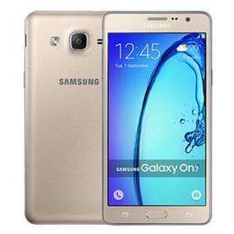 Wholesale Dual Sim 4g Mobile - Refurbished Original Samsung Galaxy On7 G6000 4G LTE Dual SIM 5.5 inch Quad Core 1.5GB RAM 16GB ROM 13MP Android Mobile Phone DHL 1pcs